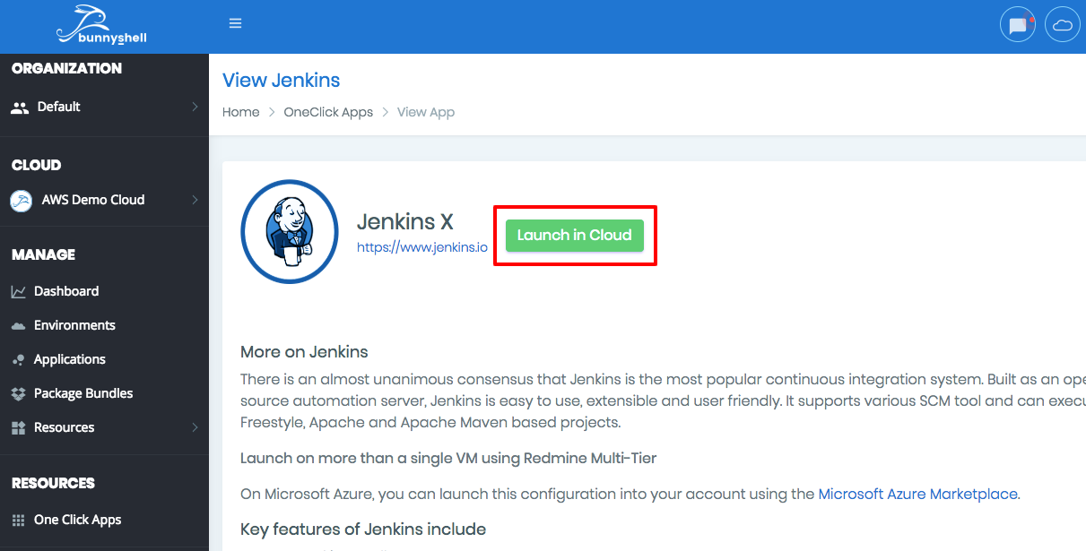 How to deploy Jenkins in Digital Ocean with Bunnyshell >